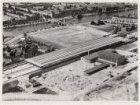 Luchtfoto van het Amstelstation, Julianaplein 1, en omgeving gezien in noordwest…