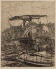 De basculebrug aan de Rapenburgwal