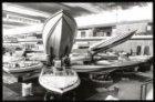 Voorbereidingen van de watersporttentoonstelling HISWA 1985 in de RAI op het Eur…