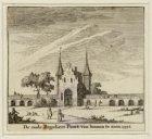 De oude Reguliers Poort, van binnen te zien. 1552