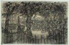 Terrasje van café Westeinde bij de galerij van Paleis voor Volksvlijt, Frederiks…