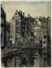 Rapenburgwal gezien naar Markengracht en achterzijde huizen Rapenburgerstraat 8-…