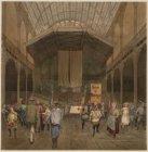 Het trommelen der Amsterdamse jeugd in de grote zaal van het Paleis voor Volksvl…