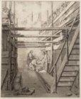 Het leggen van de eerste steen op 7 juli 1787 door Cornelis Sebille Roos bij de …