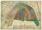 Kaart van de vulwijken der Stads Lantaarens, vertoonende des zelfs plaatsen door…