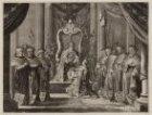 Keizer Maximiliaan verleent aan Amsterdam de keizerskroon boven het stadswapen, …