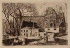 Stadhouderskade 43-46, het Polderhuis met op de achtergrond het Rijksmuseum. Tec…