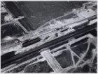 Luchtfoto van metrostation in de Bijlmermeer in aanleg