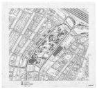 Overzichtstekening van het centrum van Amsterdam tussen Nieuwmarkt en Herengrach…
