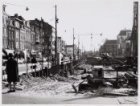 Bouwput van flatgebouw Amstelstein, Vijzelstraat 66-80, gezien vanaf Keizersgrac…