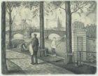 Amstel, gezien naar Nieuwe Amstelbrug in noordelijke richting vanaf Amsteldijk