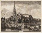 Oude Kerk / Oudezijds Voorburgwal tussen de nrs. 68 en 80, gezien in noordwestel…