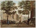 's-Gravelandse Veer gezien naar de Amstel met de ingang van de Kloveniersburgwal