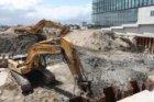 Bouwput voor de bouw van nieuwbouwwoningen en woningen aan de Oosterdokskade