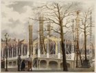 Bezoek koning Willem III en koningin Emma. Amstel met Magere brug gezien naar Ni…