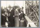Mejuffrouw E.D.W. Jonckheer doopt het mailschip Prins der Nederlanden