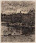 Leidsekade gezien over Singelgracht naar ingang Leidsegracht. Getekend door Nico…