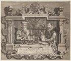 Dubbelportret van de cartografen Gerardus Mercator (Gerhard Kremer) (1512-1594) …