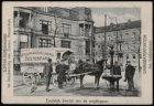 Paard en wagen bij de drinkplaats Jan Luijkenstraat voor het gebouw Stadhoudersk…