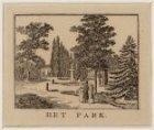 Gezicht in het Park bij de Platage Parklaan (tegenwoordig het Wertheimpark)