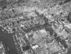 Luchtfoto in verband met het toekomstig metrotracé Oostlijn, gezien in noordelij…