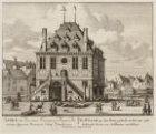 De Waagh, op den Dam, gesticht in het jaar 1561; hebbende boven een Soldaaten wa…