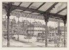 Stadhouderskade 42, gezien vanonder de luifel van het Rijksmuseum naar de Weteri…