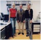Groepsfoto van medewerkers van Medisch Onderzoek Vliegramp Bijlmer-Epidemiologie