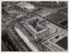 Luchtfoto van het Stadionplein en omgeving gezien in noordwestelijke richting