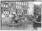Korte Prinsengracht 19-25, rechts zijgevel  Haarlemmerstraat 150 (ged.) Tijdens …
