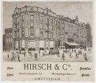 Firma Hirsch & Cie, Leidseplein 25-31 en links ingang Weteringschans