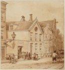 De ingang van de Sint-Vincentius Armenschool, Nieuwe Leliestraat 169, met een st…