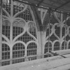 Dam 12, Nieuwe Kerk, detail van de ramen tijdens restauratie
