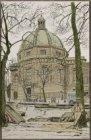De Luthersche Nieuwe Kerk gezien over de Singel. Anonieme tekenaar