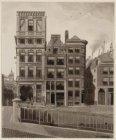 Oudezijds Voorburgwal 232-238, links de Varkenssluis en de Damstraat; rechts ing…
