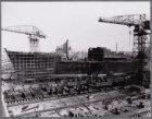 Laatste bouwstadium van het vrachtschip ms. Porsanger
