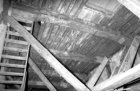 Prins Hendrikkade 35, detail van het houtskelet van het achterhuis