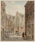De Oude Kerk gezien uit de Enge Kerksteeg