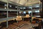 Interieur Doopsgezinde Kerk (ook wel Singelkerk), Singel 452. Zicht vanaf de eer…