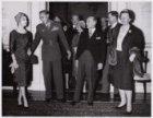 Bezoek dr. Manuel Prado, president van Peru  en echtgenote