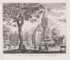 De Kerk en het Regthuis te Hilversum, situatie vóór de brand van 25 juni 1766