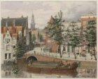 De Grimnessesluis met links de achtergevels van de Langebrugsteeg, Nes en Grimbu…