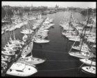 Overzicht van de eerste 'natte' HISWA 1987 in het Oosterdok