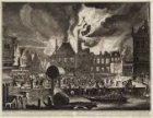 Afbeelding van den Brandt van 't oude Stadhuys van Amsterdam: 't welk den 7 July…