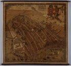 Reproductie van de plattegrond door Cornelis Anthonisz.. 1544. 1 rol