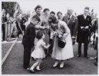 Eerste officieel bezoek prinses Beatrix, bezoek aan de sintelbaan op het Olympia…