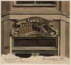 """Lindengracht 160, deurkalf, de horizontale balk boven de deur van herberg """"de Ka…"""