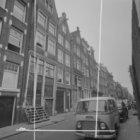Vinkenstraat 1 en hoger. Geheel links een deel van de zijgevel van Korte Prinsen…
