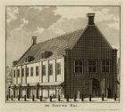 De Vleeshal op de Botermarkt, het tegenwoordige Rembrandtplein. Techniek: ets