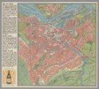 Kaart van Amsterdam op schaal 1:20.000, uitgegegeven door de Blokband Taxicentra…